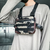 Unisex Oxford Cloth Camouflage Tactical Cool Tooling Vest Outdoor Backpack Phone Bag Couple Bag