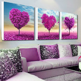 32x32cm 5D DIY Purple Love Tree Pintura al óleo con resina Resorte Full Rhinestone Scenery Cross Stitch Kit