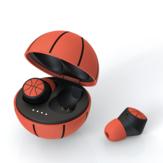 Fone de ouvido estéreo sem fio EMEY TWS esporte basquete futebol em forma de futebol à prova d'água bluetooth 5.0