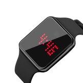 SENORS SN145 Dynamiczny kalendarz z alarmem LED na ekranie 12/24 godzin Świecący wodoodporny silikonowy pasek Cyfrowy zegarek