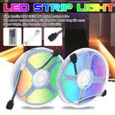 Impermeável 2 * 5M SMD2835 LED Kit de luz de tira Lâmpada de fita flexível para exterior RGB com adaptador de energia 5A + 44 teclas IR Controle Remoto