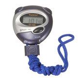 Dijital El Sporları Kronometre Durdur İzleme Süresi Saat Alarm Sayacı Zamanlayıcı Mavi