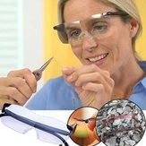 Szkło powiększające 250 stopni Okulary korekcyjne Okulary powiększające Okulary ochronne Ochrona oczu PC Fashion Portable Unisex
