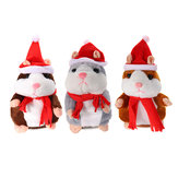 18 CM Lovely Talking Hamster Christmas Knuffel Spreek Talking Sound Record Hamster Talking Toys