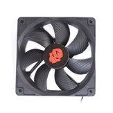 12V DC 3000RPM 12CM Chladicí ventilátor Vysokorychlostní dvojitá kuličková ložiska Vzduchotechnika Chladicí ventilátor Chladič