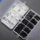 Suleve™M3NH6300PcsM3Nylon Vite Bianco e nero esagonale Vite Dado PCB Assortimento distanziatore kit