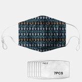 Geometrische Staubmaske im ethnischen Stil PM2.5 7-teilige Dichtung