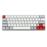Geek GK64 Aluminum Alloy Caso 64 keys Mecânico Gaming Keyboard PBT Keycaps Gateron Switch Teclado de jogo RGB Hot Swappable