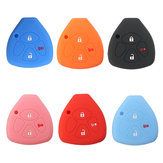 3 Buttons Silicone Fob Skin Car Key Cover Jacket For Toyota Scion Tc