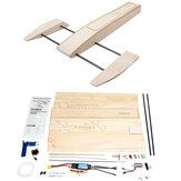 B061 B068 DIY RC Speed barco Kit Modelo de camarón con estabilizador de madera Sponson