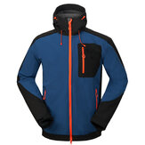 Męskie Outdoor Soft Shell Jacket Coat Wodoodporna wiatroodporna z kapturem Odpinany Camping Hiking Leisure