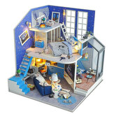 2020 Christmas Decoration DIY Doll House Wooden Doll Houses Miniature Dollhouse Furniture Kit Toys for Children New Year Christmas Gift