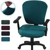 2 unidades / conjunto Capa elástica para cadeira de escritório de milho Fleece Computador Rotativo Protetor de cadeira Stretch Poltrona Assento Slipcover Decoração de móveis de escritório doméstico