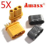 5 Pairs Amass MR30 Connector Plug With Sheath Female & Male