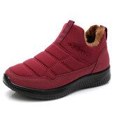 حذاء نسائي شتوي دافئ مريح ضد للماء حذاء ثلج مقاوم للانزلاق