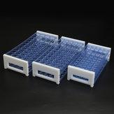 3 Lagen Plastic Lab Reageerbuisrek Houder Afneembare Centrifugeerbuisstandaard voor 13/16/18mm Buizen 40/50 Gaten
