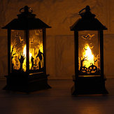 Hallowen Flame Lamp Elektronische LED Kaarslicht Feestdecoraties