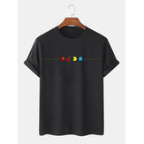 100% Cotton Funny Game Print Round Neck Short Sleeve T-Shirts