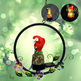LED Solar Powered Garden Light Parrot Resin Ornamento Gramado Paisagem Lâmpada Outdoor