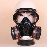 Gas facial Mascara Respirador de filtro Seguridad de emergencia Respiratorio y protección de gafas