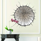 Miico Creative 3D Round Broken Wall PVC Removable Home Room Decorative Wall Door Decor Sticker