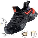 أحذية السلامة للرجال من الفولاذ المقاوم للصدأ أحذية العمل أحذية الجري العاكسة المضادة للانزلاق أحذية المشي لمسافات طويلة والركض