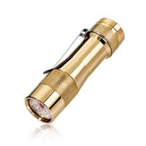 LUMINTOP FW3A Brass 3x LED 2800LM ANDÚRIL UI EDC Flashlight Mini LED Keychain ضوء