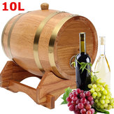 10L Wood Oak Wood Barrel Keg Wine Spirits Whisky Port French Toasted with Stand Wooden Barrel