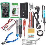 110V / 220V 60W Listrik Suhu Adjustable Solder Iron Multimeter Plier Alat Kit