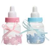 12個入り充填ボトルキャンディボックスベビーシャワーの洗礼パーティーの好意洗礼