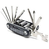 15 in 1 Mini Multifunction Bicycle Repair Tool For M365 Scooter Screwdriver Hexagon Wrench