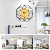 42cm Clear Wide Large Wood Wall Clock With Bird Stickers For Study Living Room