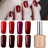12 colores nano vino de color rojo sistema de arte de uñas uv gel polish soak-off 12ml