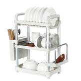 Kitchen Dish Drying Rack Organizer Fork Spoon Bowl Holder Drain Shelf Drainer