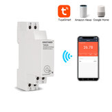SINOTIMER TM608 AC 110V 220V 16A 18mm مفرد Phase رقمي Timer Switch التحكم عن بعد WiFi ذكي ضوء مراقبة Switch Programmer with Energy Monitoring