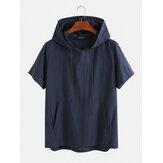 Мужские футболки из 100% хлопка с капюшоном с капюшоном и дышащим воздухом