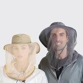 Moustiquaire en plein air chapeau soleil seau chapeau couverture visage chapeau à séchage rapide chapeau de sport chapeau de pêche alpinisme chapeau avec ficelle