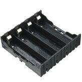Plastic batterijhouder houder opbergdoos doe-het-zelf voor 4 stuks 18650 3,7V oplaadbare batterijen