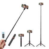 Blitzwolf BW-BS10 Plus Multifuncional 1300mm Super longo Comprimento Selfie Varanda Triop com 360 ° Phone braçadeira e retrátil remoto