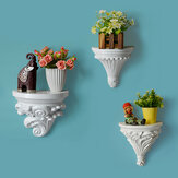Wall Hanging European Flower Pot Plaster Corbel Shelf Art Rococo Shelf Rack