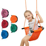 Children's Weaving Swing Rope Net Hammock Baby Family Hanging Chair For Outdoor Garden Backyard Toys