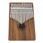 IRIN 17 Chaves de madeira de madeira maciça Kalimba polegar de madeira percussão de dedo de piano