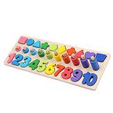 Oktatási számláló geometria Fajátékok 3 az 1-ben tábla matematika tanulás Óvodai Montessori korai oktatási puzzle játékok