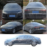 Car Disposable Plastic Cover Waterproof Transparent Dustproof Rian Cover Clear