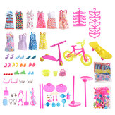 88 PCS Random PP Material Doll Clothes and Other Accessories Toy Set Compatible 11 inch Doll