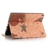 Map Pattern Wallet Card Slot Kickstand Tablet Case For iPad Pro 10.5 Inch 2017/iPad Air 10.5 Inch 2019