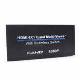 1080P Full HD HDMI 4x1 Quad Multi-viewer HD Splitter Screen 4 Way Signal Switcher
