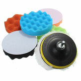 Drillpro 7pcs 3/5/6/7 Inch Sponge Polishing Waxing Buffing Pads Satz für Autopolierer