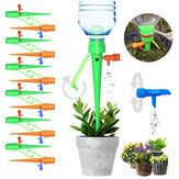 18Pcs Automatic Vacation Drip Irrigation Plant Self Spikes System with Slow Release Control Valve Switch for Indoor & Outdoor Home Office Plants
