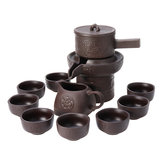 9Pcs Chinese Real Zisha Purple Clay Tea Set Oriental China Tea Set Tea Pot Cups